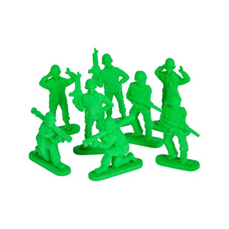Party Figure - Green Army Men Figure Eraser Toys Party Favor Set Of 24