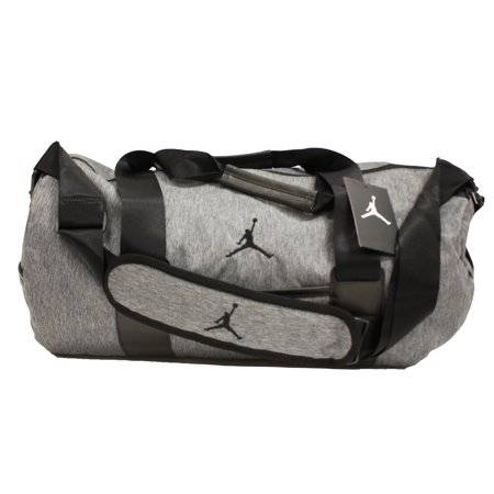 d16e5792341 NIKE AIR JORDAN UNSTRUCTURED DUFFEL BAG DARK HEATHER GREY BLACK BA8064 063  - Walmart.com