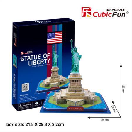CubicFun C080H Statue of Liberty Puzzle - Football Statue Of Liberty