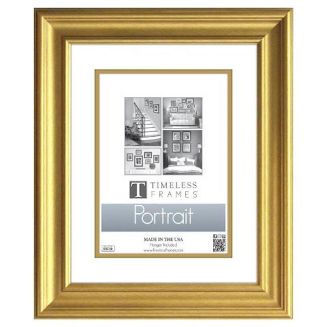Timeless Frames 45247 Lauren Portrait Gold Wall Frame 8 X 10 In