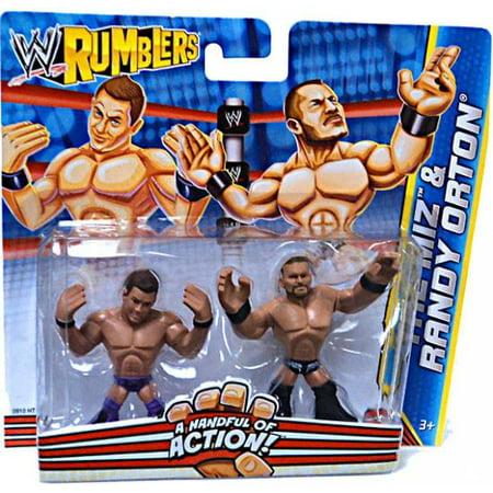 Wwe Wrestling Rumblers Series 2 The Miz   Randy Orton Mini Figure 2 Pack