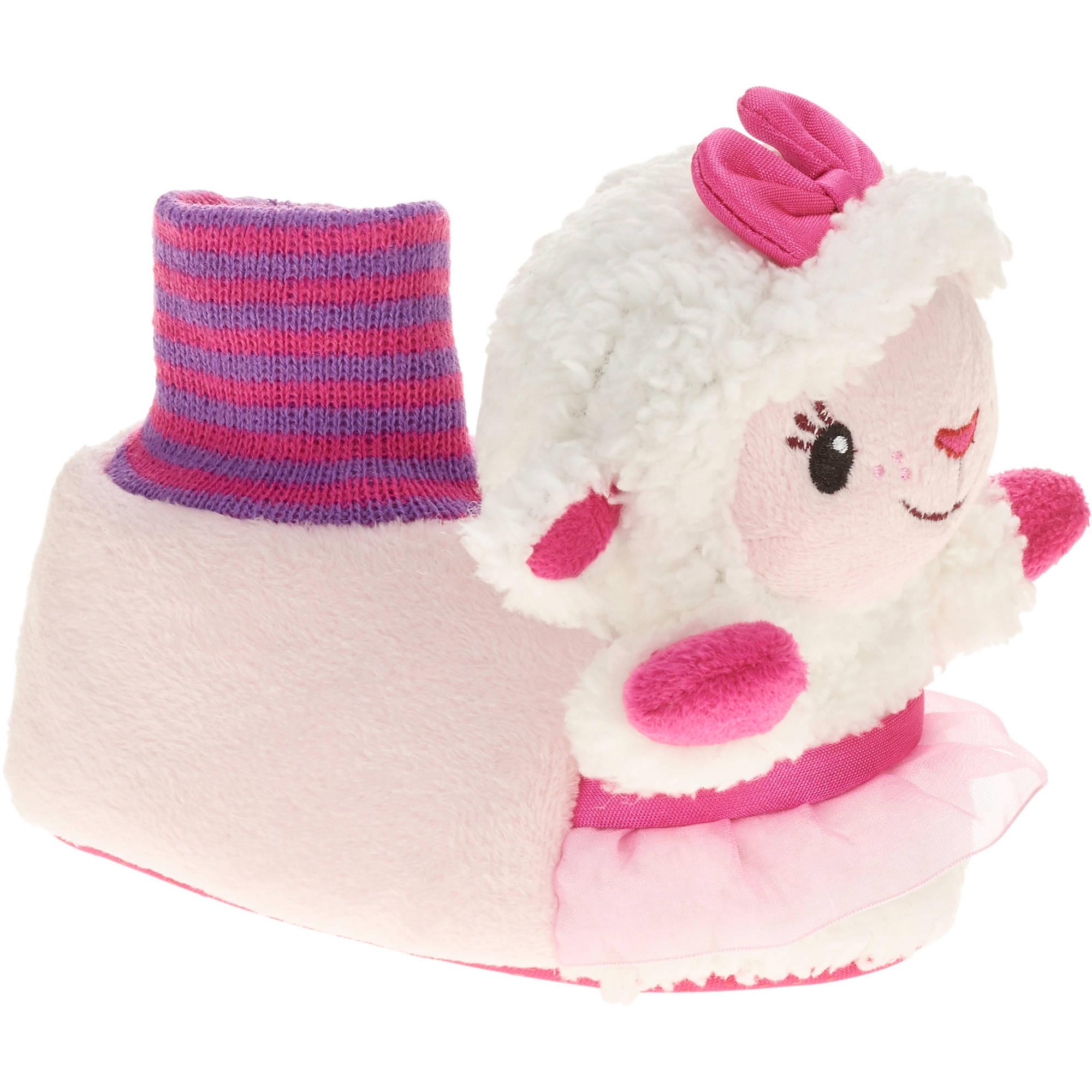 Doc McStuffins Toddler Girl's Lambie Sock-top Slipper