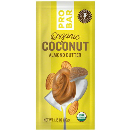 Almond Coconut Butter - ProBar Organic Coconut Almond Butter, Box of 10