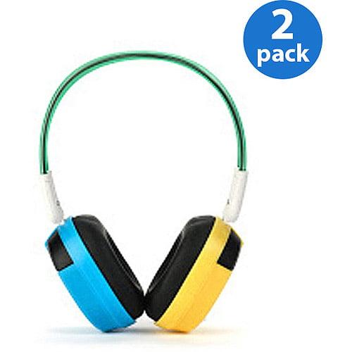 Bravo View IH-03A Kid-Friendly Automotive IR Wireless Headphones (2 Pairs)