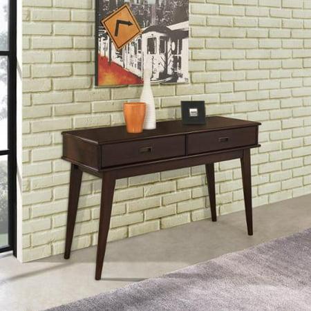 Marvelous Wyndenhall Tierney Mid Century Console Sofa Table Walmart Com Creativecarmelina Interior Chair Design Creativecarmelinacom