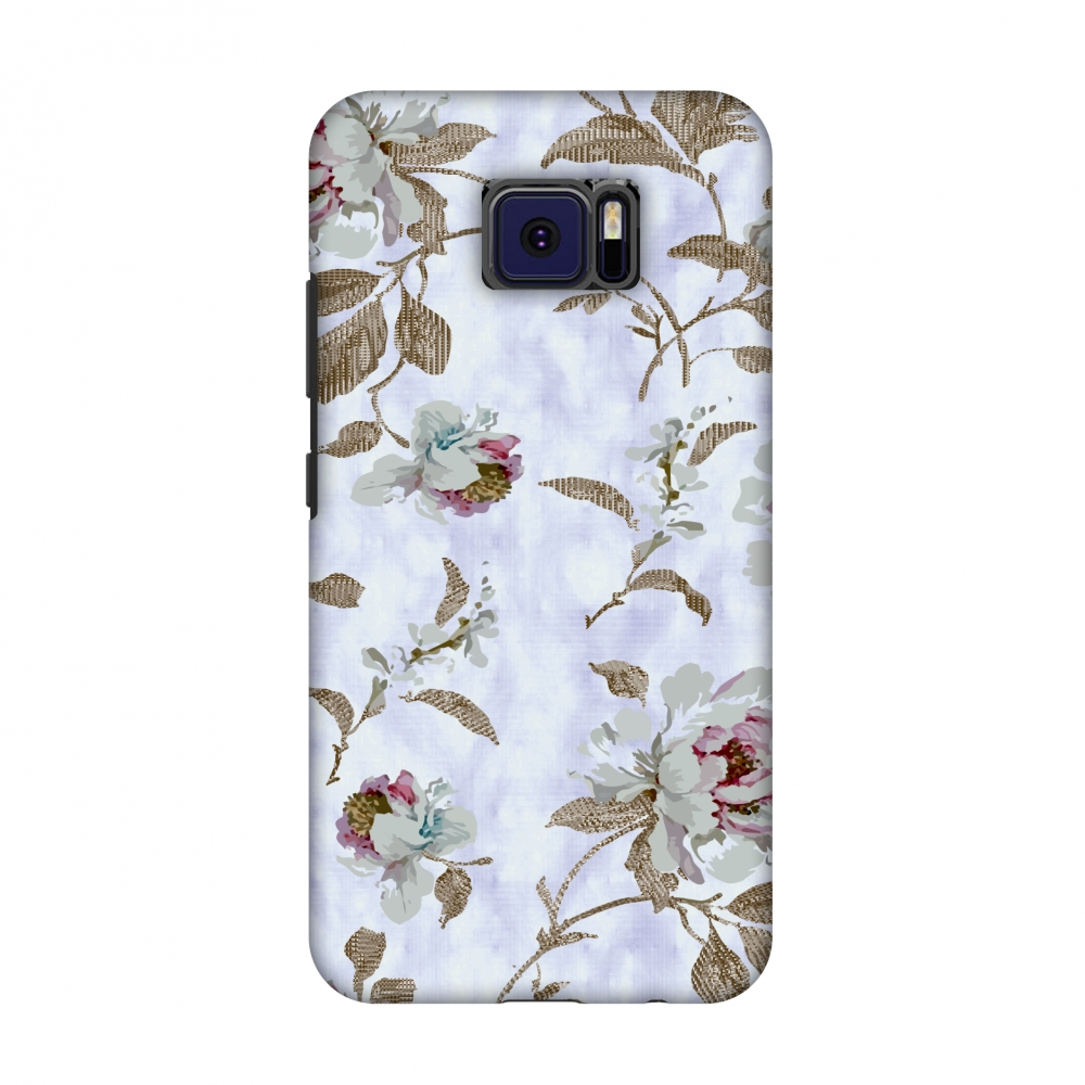 Asus ZenFone V V520KL Case - Textured roses- Lavender and pearl white, Hard Plastic Back Cover, Slim Profile Cute Printed Designer Snap on Case with Screen Cleaning Kit