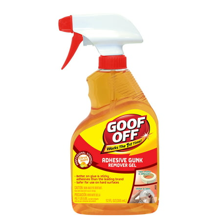 Goof Off Gunk & Adhesive Remover, 12oz Trigger Adhesive Remover 8 Oz Bottle