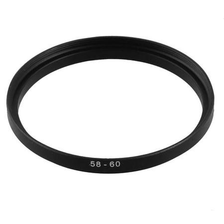 Camera Lens Filter Step - 58mm-60mm Camera Lens Filter Step Up Ring Adapter Black