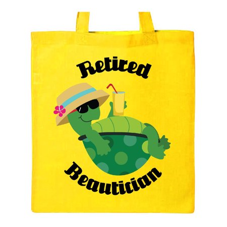 Retired Beautician Gift (Funny) Tote Bag Yellow One Size