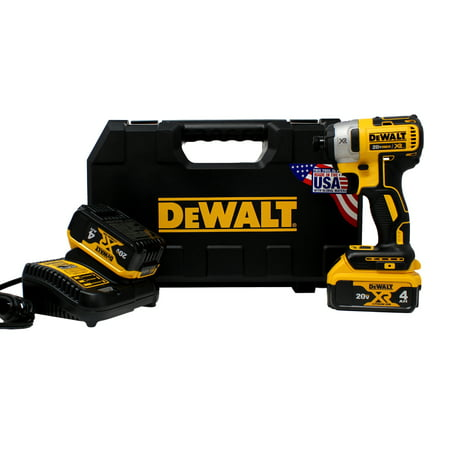 DeWalt 20V MAX Li-Ion XR 3 Speed 1/4u0022 Impact Driver (4.0Ah) w/ 2 Batteries and Kit Box
