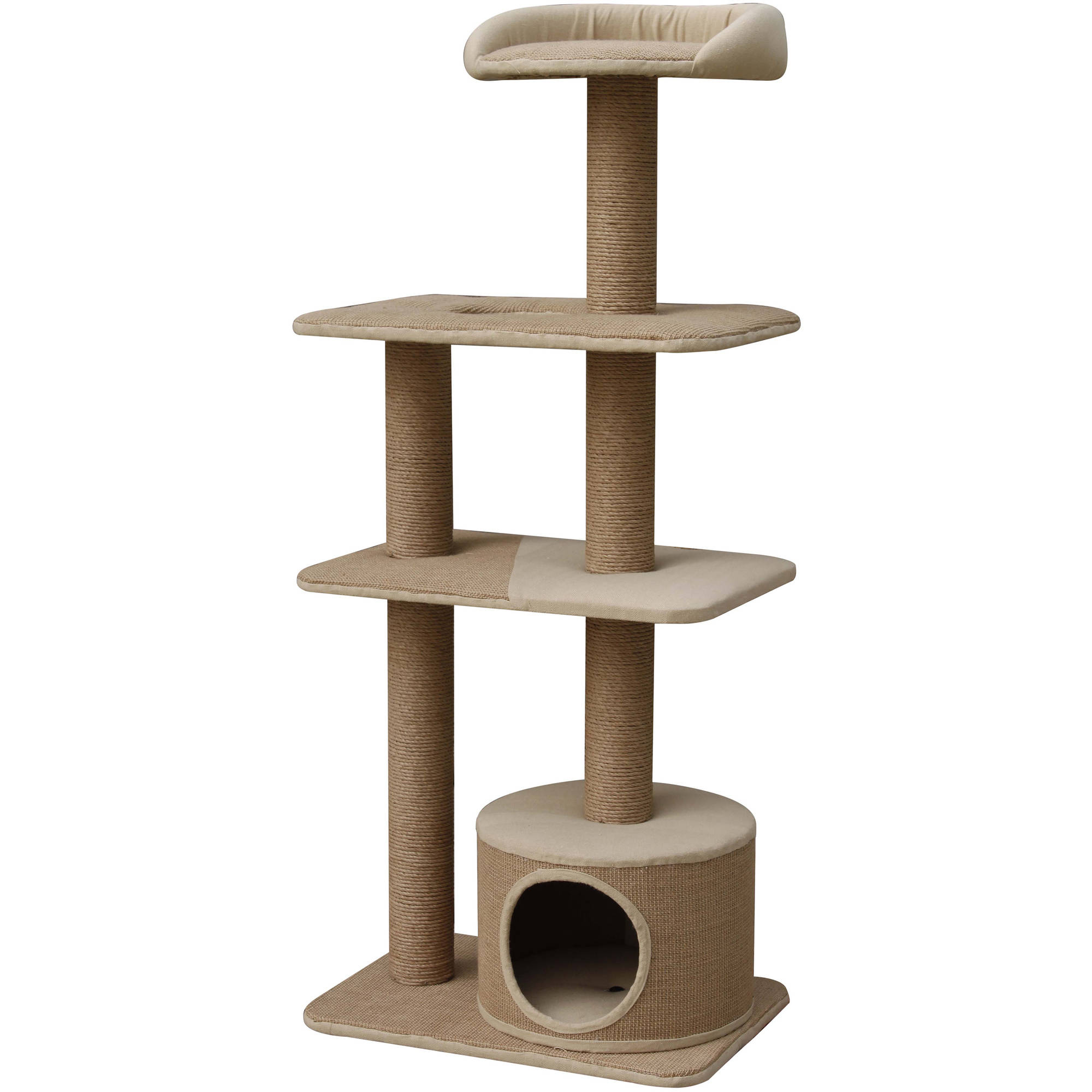 Petpals Group Spire 4 Levels Paper and Jute Towers with Lookout and Condo Hideout