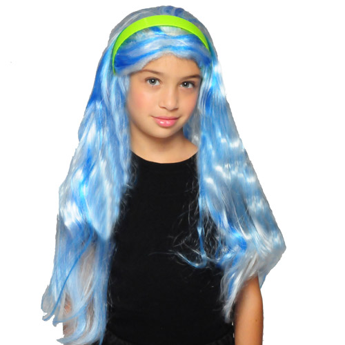 Monster High Blue Ghoulia Yelps Wig Child Girl Halloween Accessory