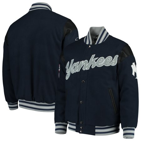 New York Yankees G-III Sports by Carl Banks Game Ball Full-Snap Varsity Jacket - Navy