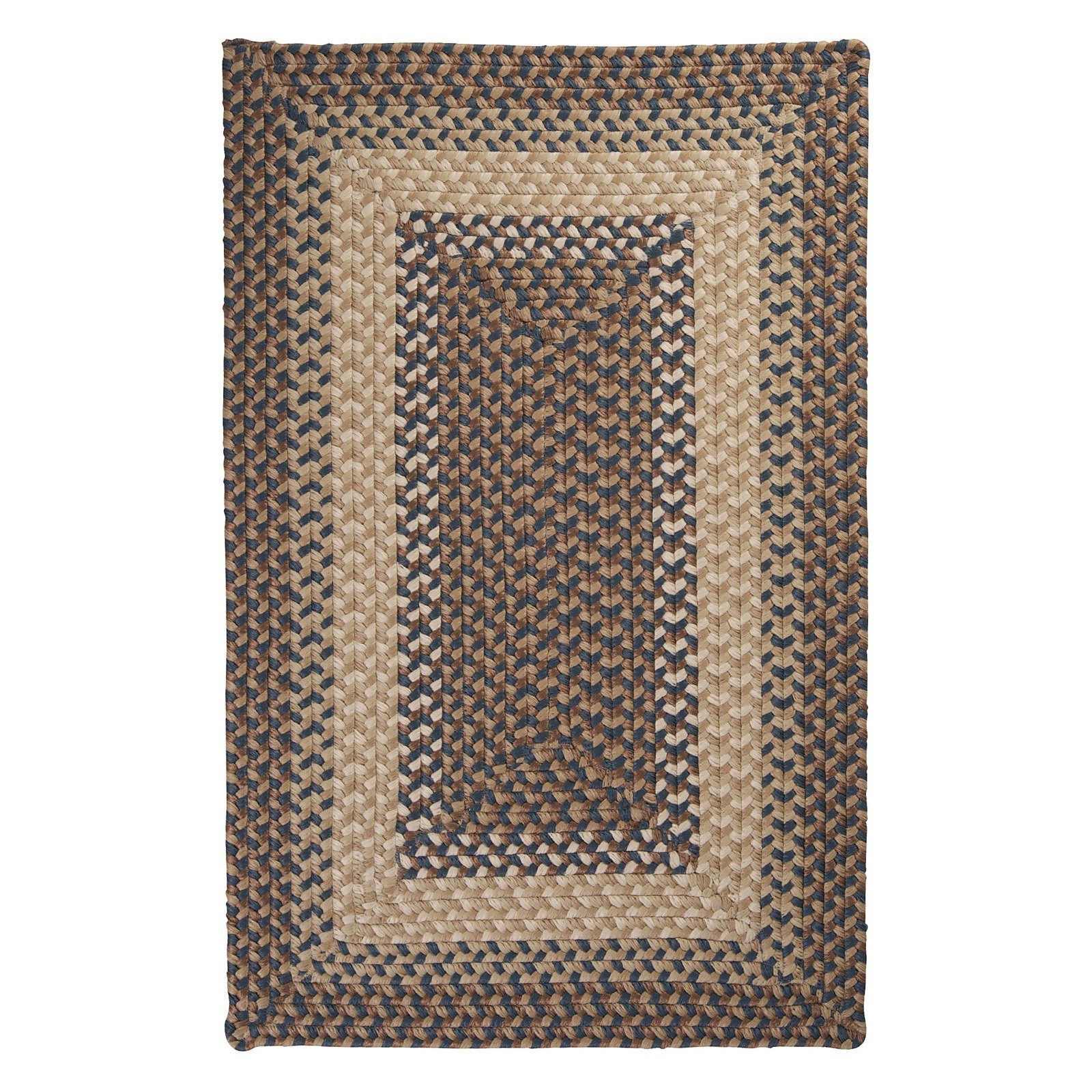 Colonial Mills TB09R Tiburon Indoor/Outdoor Braided Rug - Stone Blue