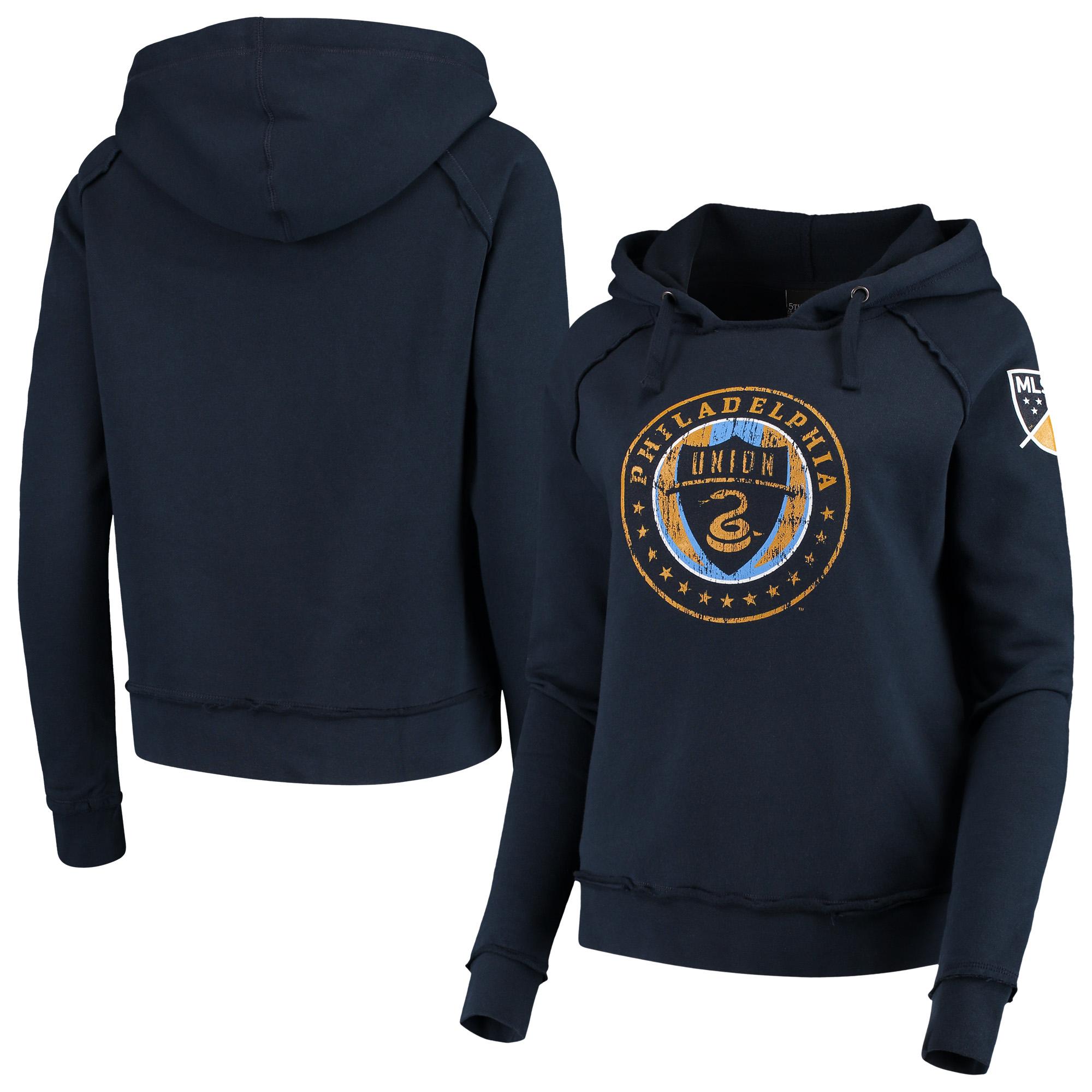 Philadelphia Union 5th & Ocean by New Era Women's Brushed Fleece Pullover Hoodie - Navy