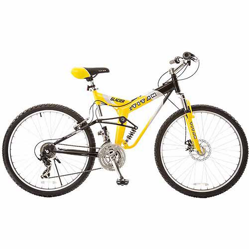 "19"" Titan Glacier-Pro Men's Mountain Bike, Yellow Black by Generic"