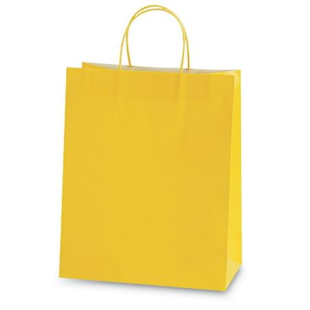 Yellow Euro Medium Gift Bag (60 Units - Yellow Gift