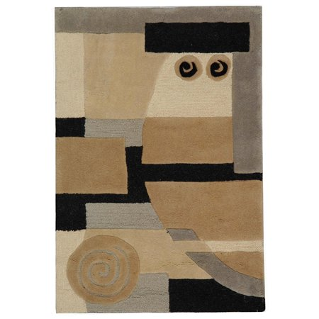 Safavieh Rodeo Drive Collection Rd643b Handmade Modern Abstract Multicolored Wool Area Rug 3 6 X 5