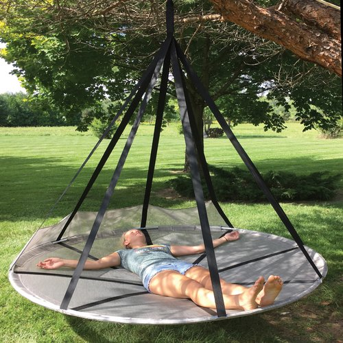 Latitude Run Juno Flying Saucer Hanging Polyester Chair H...