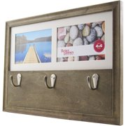 Better Homes and Gardens 2-Opening 4x6 Picture Frame with Hooks