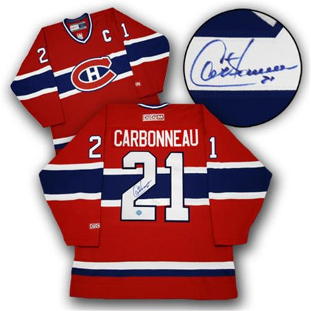 AJ Sports World CARG105000 GUY CARBONNEAU Montreal Canadiens SIGNED Hockey JERSEY by