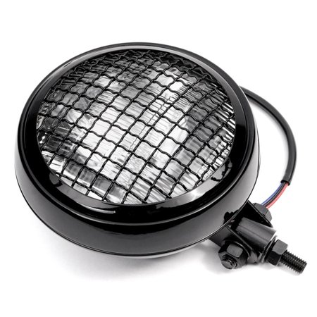 """Krator 6"""" Black Motorcycle Headlight w/ Mesh Grill High Low Beam Headlamp Bottom Mount for Victory Cross Country - image 1 of 7"""