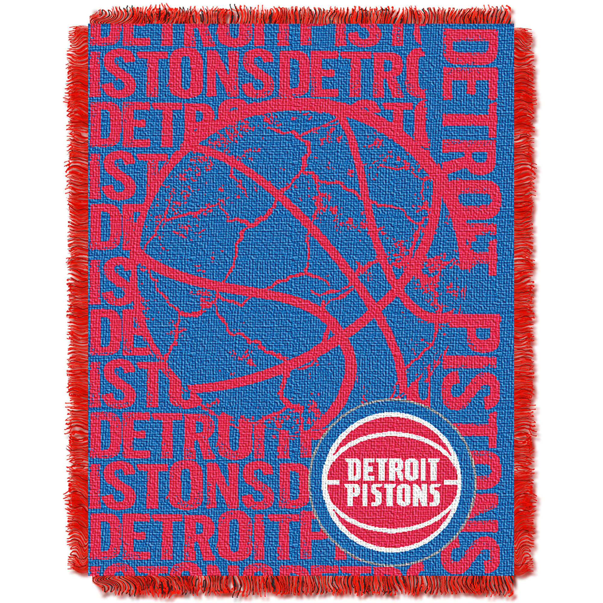 Detroit Pistons The Northwest Company 46'' x 60'' Double Play Jacquard Throw - No Size