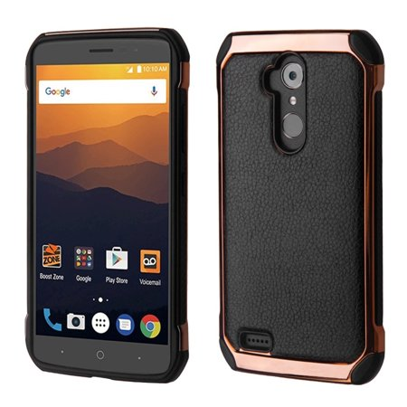 Zte Max Xl Phone Case  By Insten Astronoot Hard Dual Layer Tpu Case For Zte Max Xl N9560   Rose Gold Black