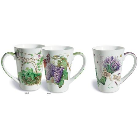 Lissom Design 2 Piece Wine Country Fine Porcelain Gift Mug Set
