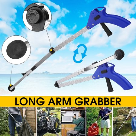 35'' Pick Up Helping Hand Reacher Grabber Pickup Tool Long Handy Arm Mobility Aid Extension Tool Trash Mobility for Trash Pick Up, Litter Picker, Garden Nabber, Disabled ()