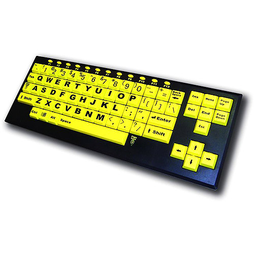 VisionBoard2 Large Print USB Keyboard - White Keys-Black Print