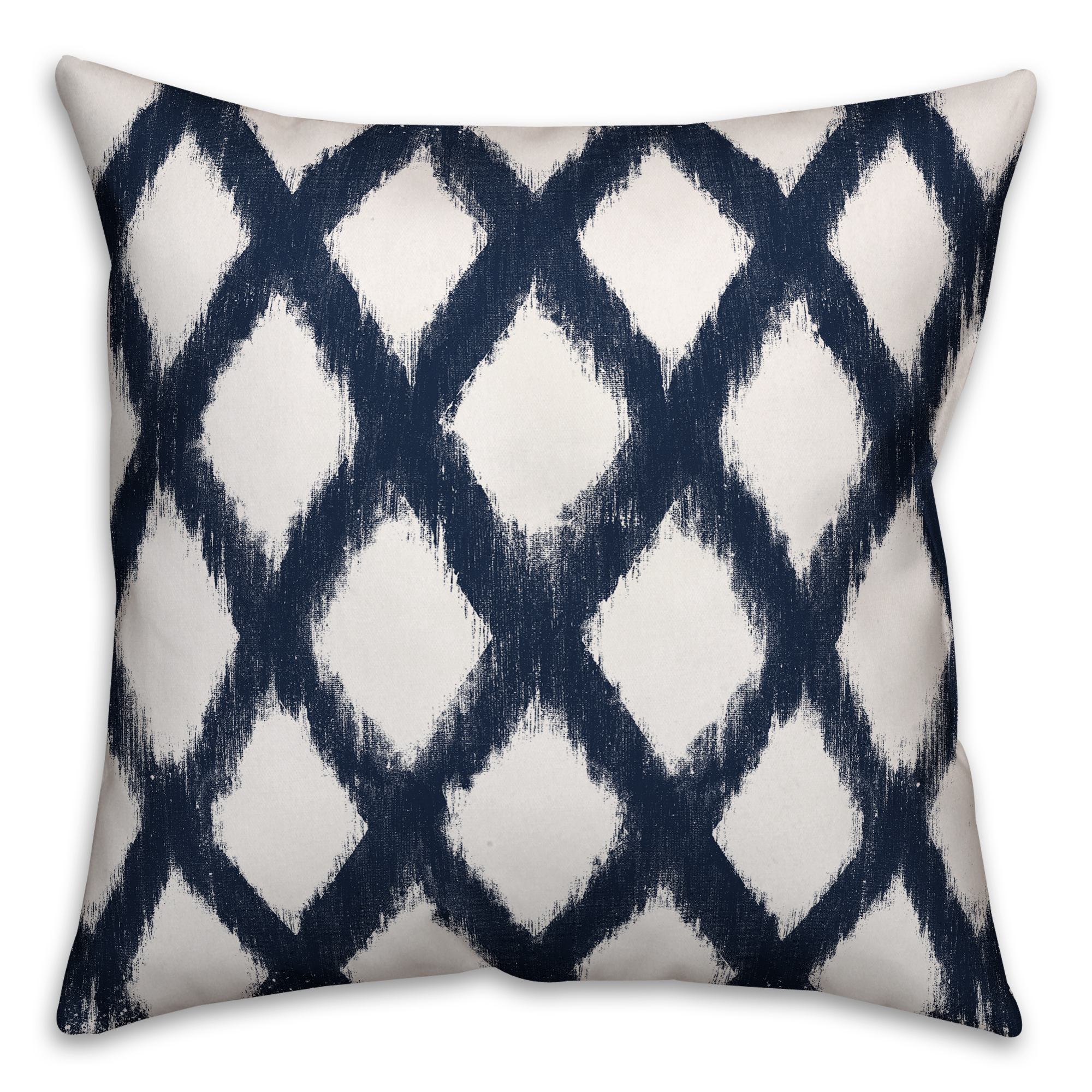 Navy Diamond Pattern 20x20 Spun Poly Pillow