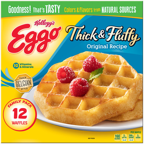 Kellogg's Eggo Thick & Fluffy Original Recipe Waffles, 12 count