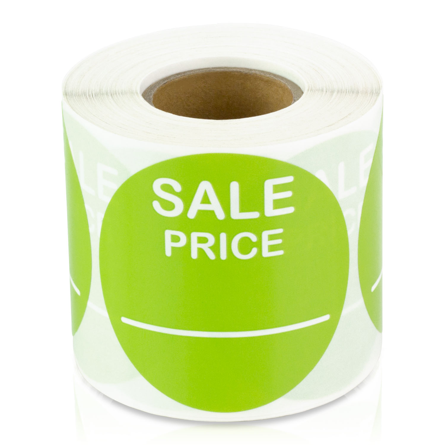Sale price 2 round pricing retail store stickers tags labels stickers lime