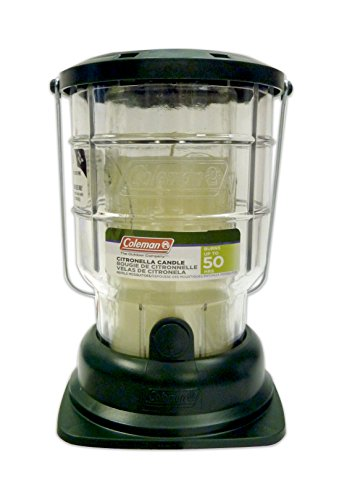 4 Pack Coleman Mosquito Repelling Citronella Candle Lantern, 50 Hours 7708 by