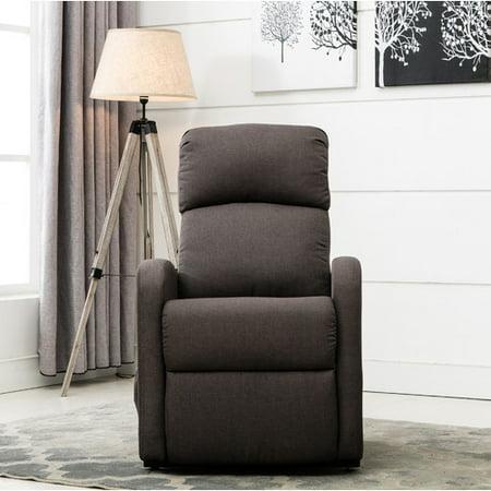Classic Plush Power Lift Recliner Living Room Chair   Grey