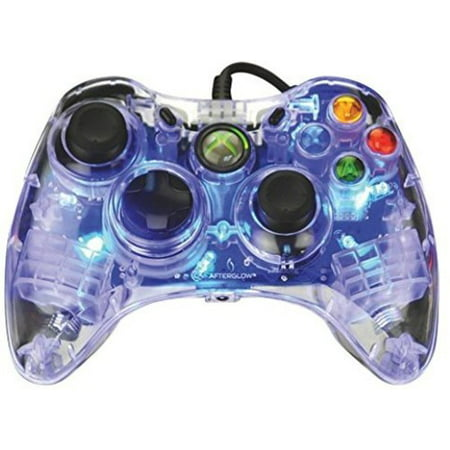 PDP Afterglow Wired Controller: Blue for Xbox 360 (Xbox 360 After Glow Controller)