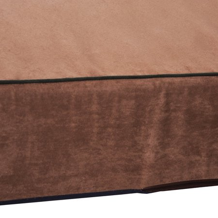 """48""""x30"""" Orthopedic Dog Bed Memory Foam with Pillow Brown - image 3 of 7"""