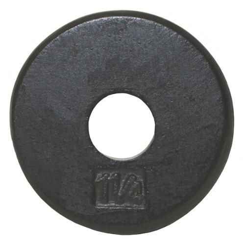 USA Sports Black Standard Weight Plate (7.5 in. Dia x 1 in. H (5 lbs.))