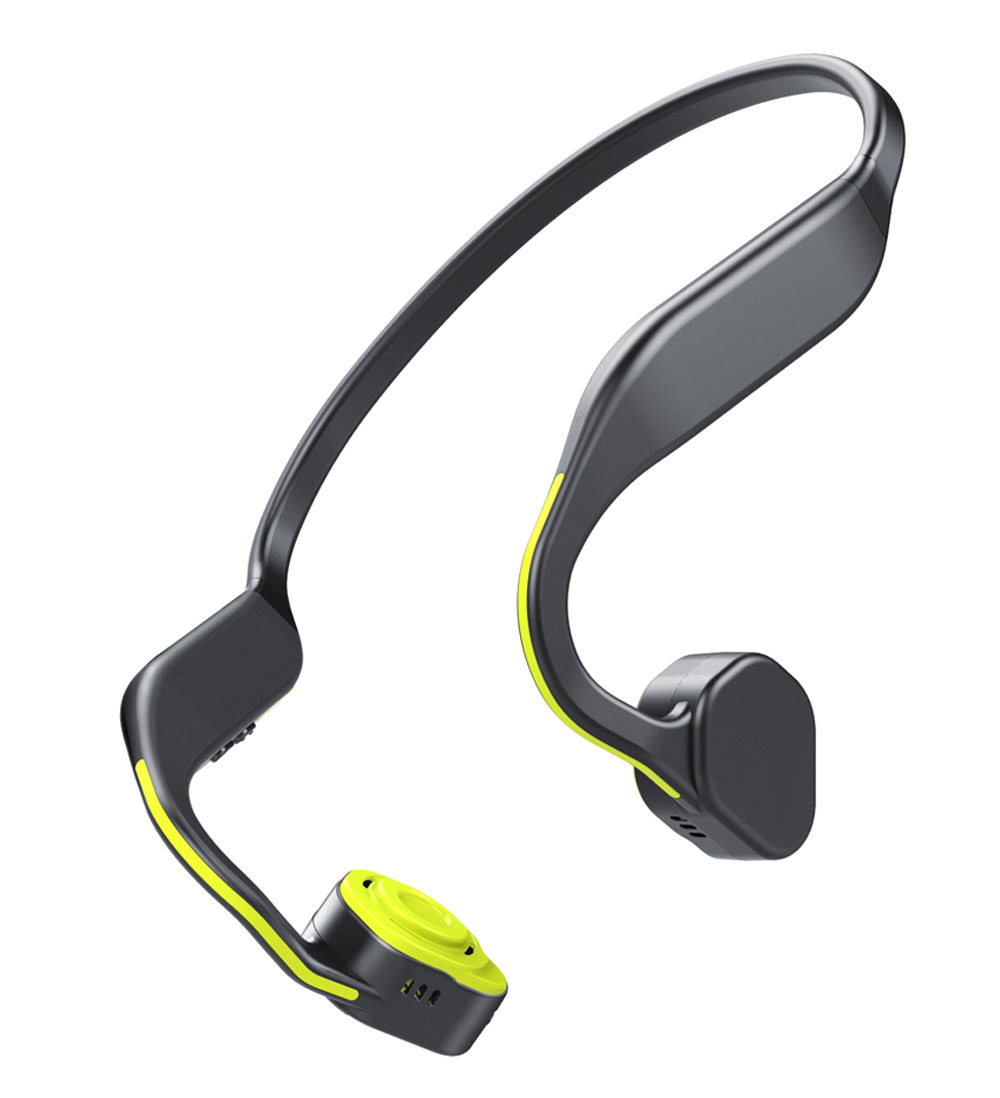 TechComm F1 Bone Conduction Water-resistant Bluetooth Wireless Sports Headphones with CVC Noise Reduction