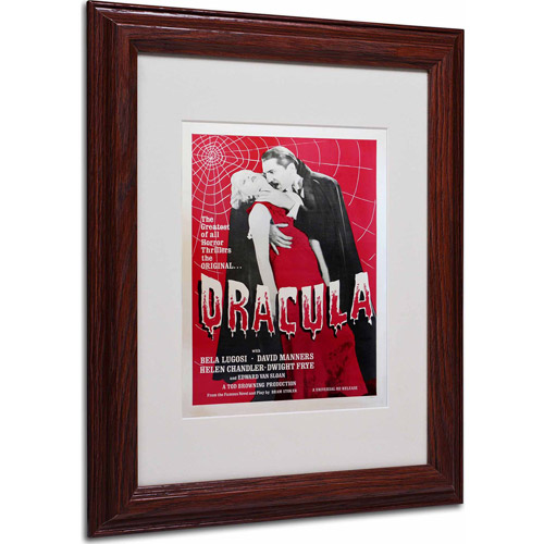 "Trademark Fine Art ""Dracula"" Matted Framed Art by Vintage Apple Collection, Wood Frame"