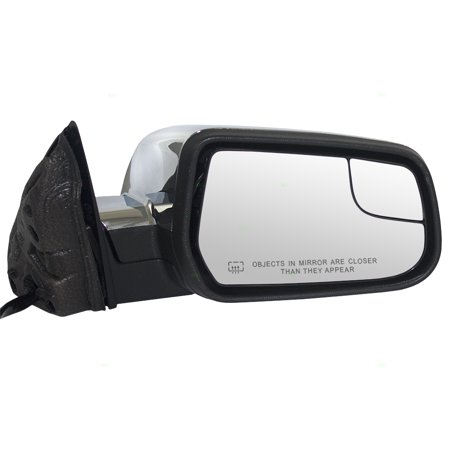 Passengers Power Side View Mirror Heated Spotter Glass Memory & Chrome Cap Replacement for 10-14 Chevrolet Equinox GMC Terrain 22818268
