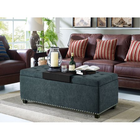 Lifestyle Solutions Reuben Functional Bench with Storage and Tray, Charcoal ()