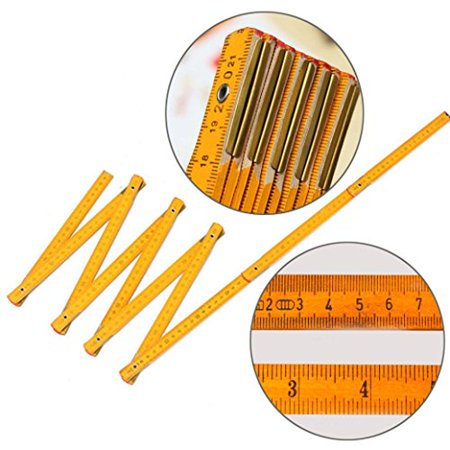 Folding Ruler - Sikye 200cm New Wooden Folding Ruler,Yard Stick Wood Carpenter Metric Measuring Tools Indoor Use
