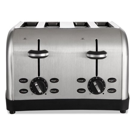 Extra Wide Slot Toaster  4 Slice  12 3 4 X 13 X 8 1 2  Stainless Steel