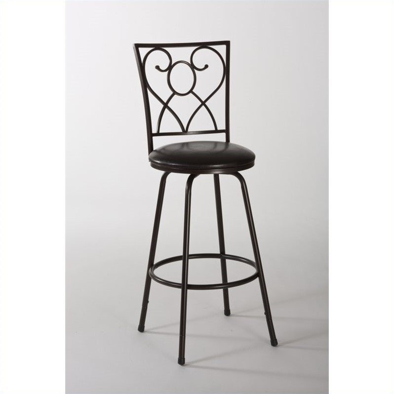 Hillsdale Furniture Bellesol Swivel Counter Bar Stool with Nested Leg by Hillsdale Furniture