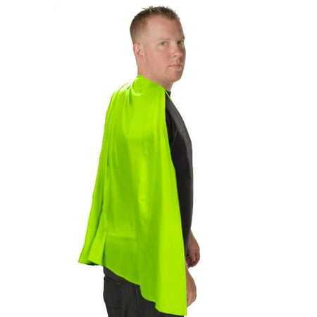 Deluxe Super Hero Costume Cape Lime Green One Size Fits Most