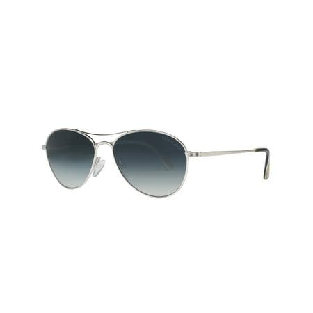 Tom Ford Oliver TF 495 18W 56mm Shiny Rhodium/Blue Gradient Aviator Sunglasses (Oliver Peoples Vintage Sunglasses)