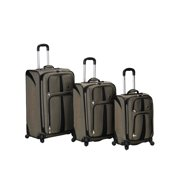 Rockland Luggage 3 Piece Eclipse Softside Spinner Luggage Set F156