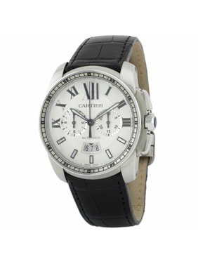 Pre-Owned Cartier Calibre W7100046 Steel  Watch (Certified Authentic & Warranty)